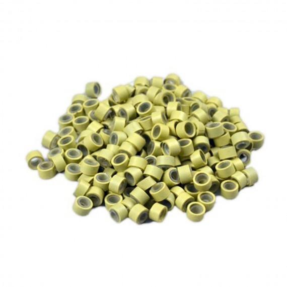 Mikro inel simplu - Blond  - 4.5 mm - 100 buc